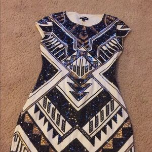 Express sequin dress worn once